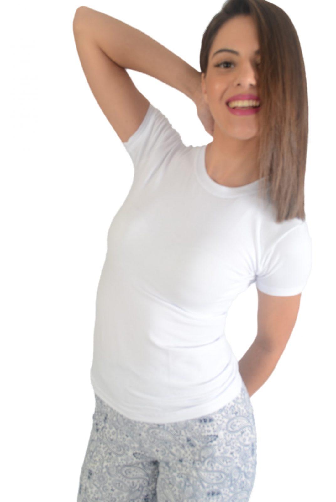 ΓΥΝΑΙΚΕΙΟ ΚΟΝΤΟΜΑΝΙΚΟ – ΛΕΥΚΟ 90%ΒΑΜΒΑΚΙ 10%ΕΛΑΣΤΑΝ