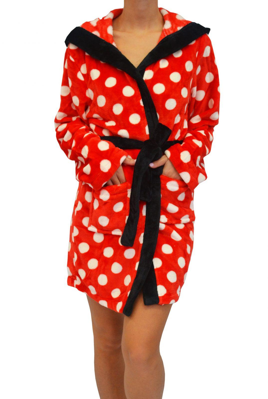 ΓΥΝΑΙΚΕΙΑ ΧΕΙΜΕΡΙΝΗ ΧΝΟΥΔΩΤΗ ΑΠΑΛΗ ΡΟΜΠΑ ΣΤΑΥΡΩΤΗ – Minnie Mouse ΚΟΚΚΙΝΗ